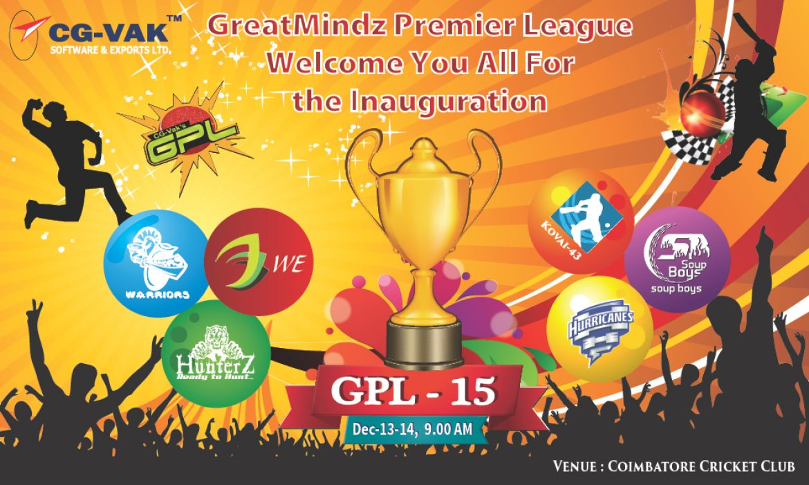 GPL 2016, CG-VAKs Internal Corporate Cricket Tournament starts afresh from 19 Dec2015